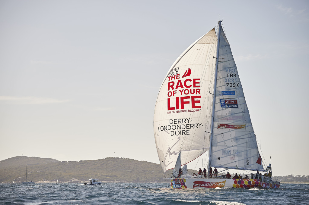 Derry~Londonderry~Doire Race 4 Start ( Photo courtesy of the Clipper Race)