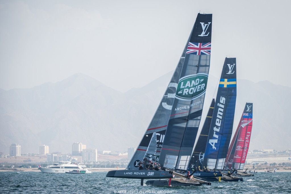 28/02/16 - Muscat (OMN) - 35th America's Cup Bermuda 2017 - Louis Vuitton America's Cup World Series Oman - Racing Day 2 (Photo © Ricardo Pinto / ACWS)