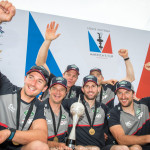 Ben Ainslie's Team Land Rover BAR takes the win in the Louis Vuitton America's Cup World Series in Oman 2016