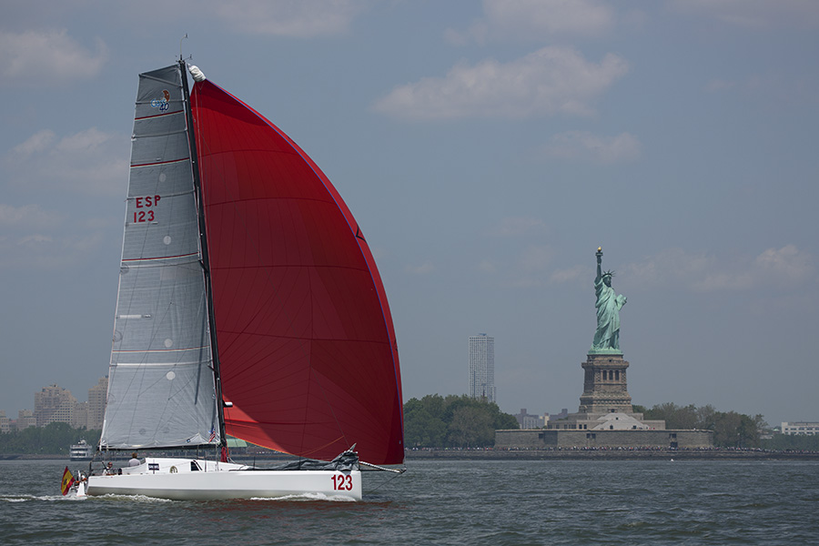 #123 Tales II passes Statue of Liberty by Billy Black/Atlantic Cup
