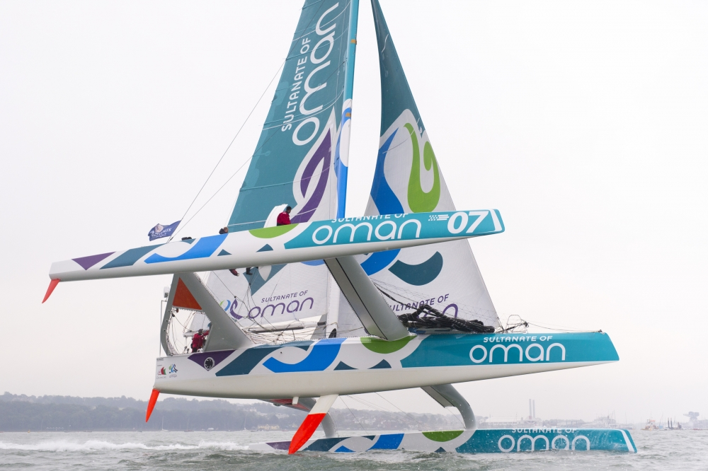 Musandam-Oman Sail Picture of Oman Sail - Musandam takes line honours at the 2015 Artemis Challenge (Photo © Mark Lloyd / Lloyd Images)