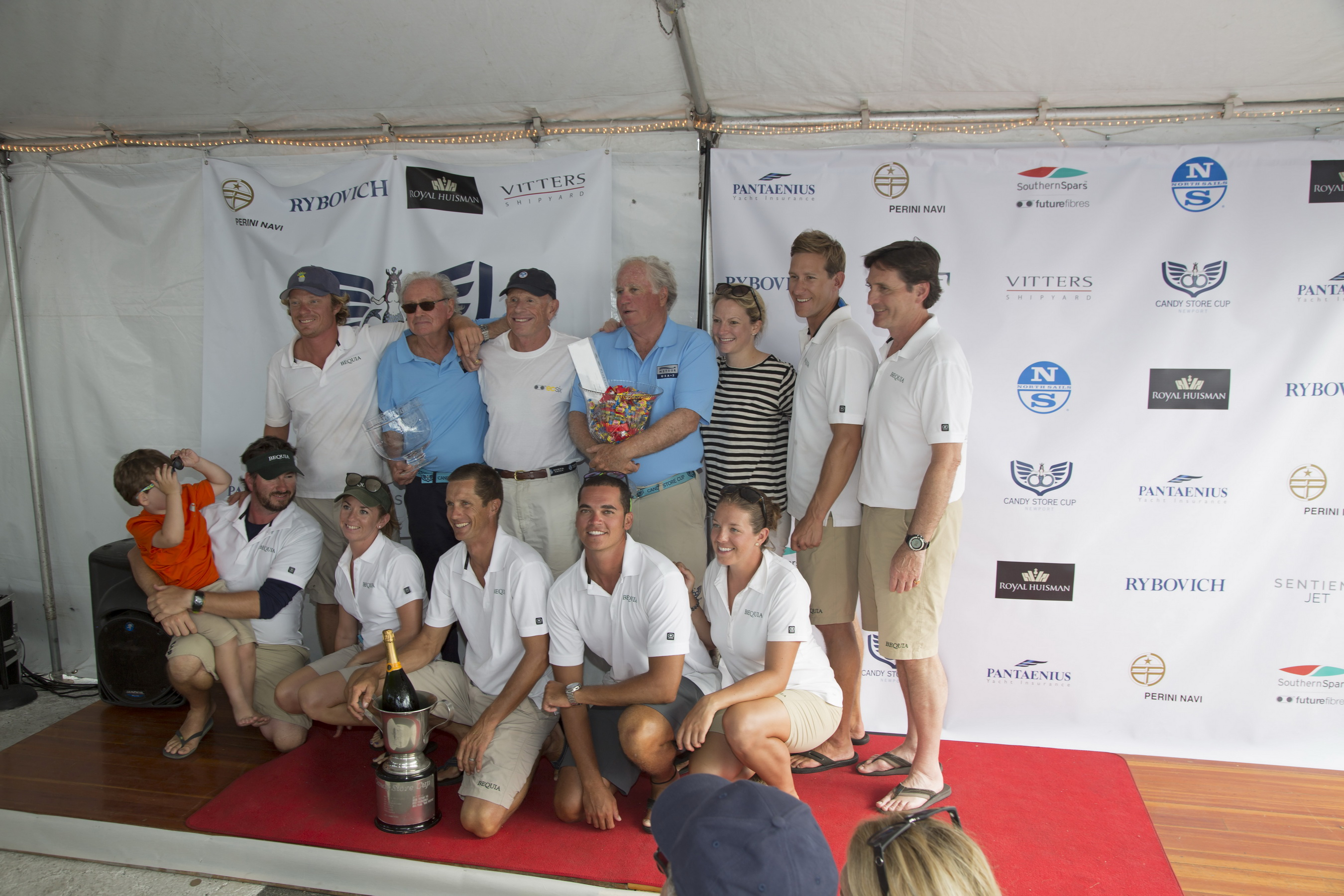 Bequia wins first place Class B in the Candy Store Cup , Newport RI