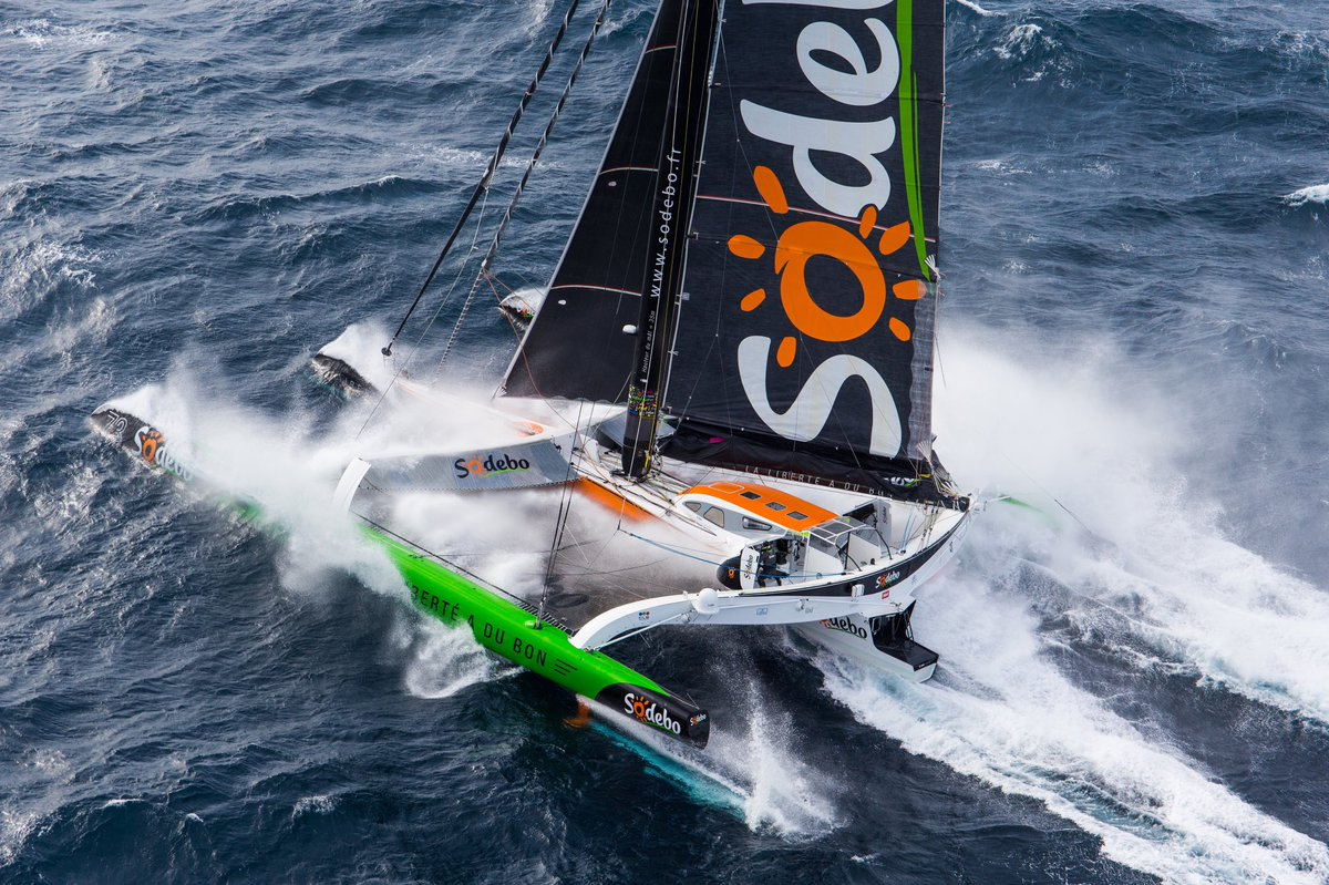 Maxi Trimaran Sodebo skippered by Thomas Coville ( Photo © Jean-Marie Liot / DPPI / Sodebo )