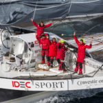 Francis Joyon and the Crew of The IDEC SPORT Maxi Trimaran Win the Jules Verne Trophy