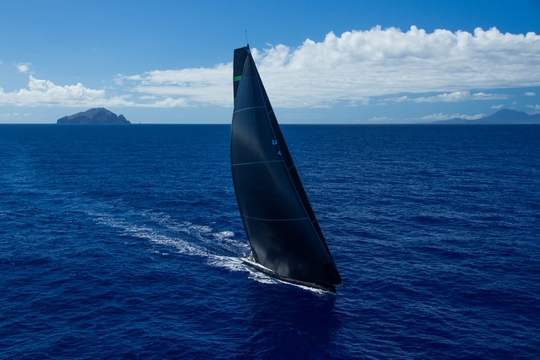 Bella Mente, JV 72 Custom, USA45. Class IRC Z & CSA 1 (Hap Fauth and his team on Maxi 72 Bella Mente competing in the 2017 RORC Caribbean 600 (Photo Credit: RORC/ELWJ Photography)