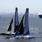 Queen Mary 2 Retraces History and Takes on the Trimarans as The Centennial Transat Begins