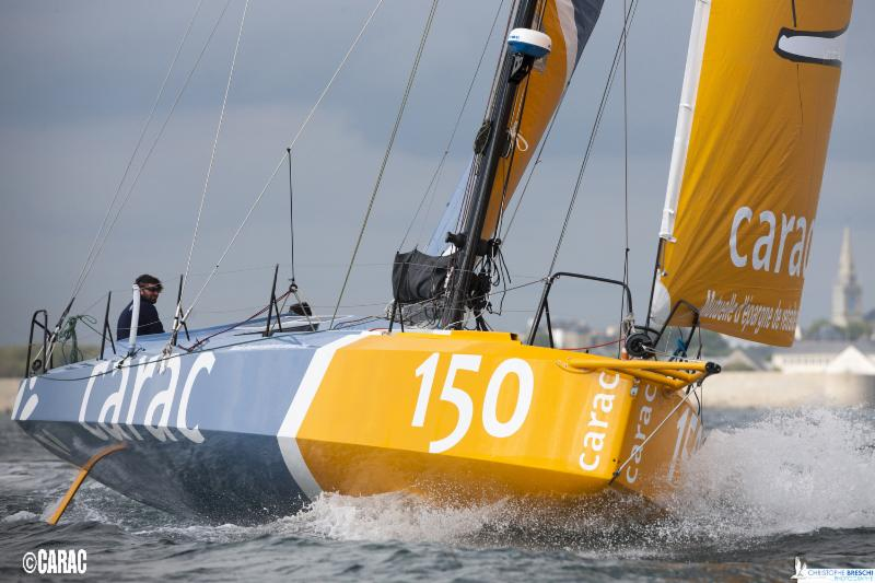 The Rolex Fastnet Race will see 34 Class40s compete, including the newest, Louis Duc's Carac (150) ( Photo © Christophe Breschi )