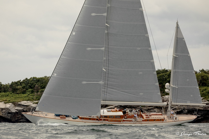 Class B Winner - Bequia at race start on Thursday ( Photo © George Bekris )