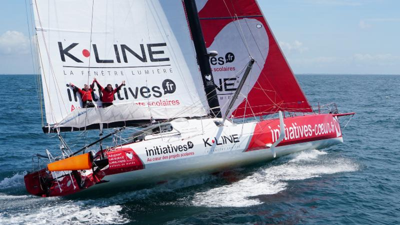 Having competed many times in the Rolex Fastnet Race, Sam Davies will be in the driving seat of Tanguy de Lamotte's IMOCA 60, Initiatives Coeur ( Photo © Initiatives Coeur )