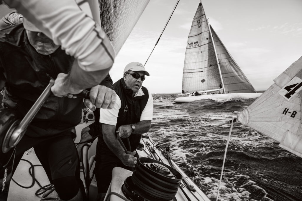 Action aboard Victory '83 at last year's 12 Metre North American Championship. (Photo © Richard Schultz)