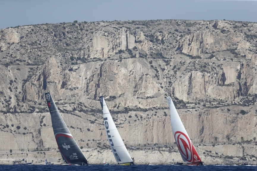 Alicante stopover. MAPFRE In-Port Race Alicante. Photo by Pedro Martinez/Volvo Ocean Race.