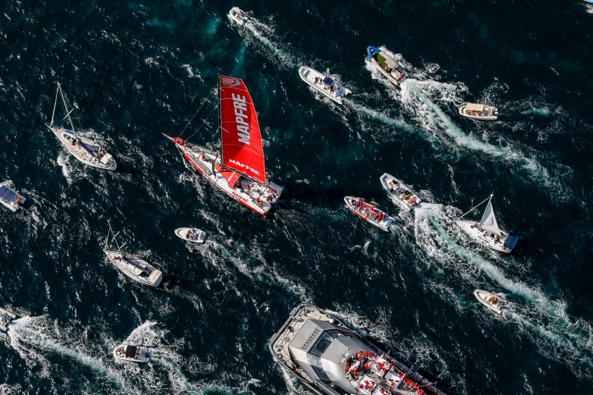 Alicante stopover. MAPFRE In-Port Race Alicante. Photo by Ainhoa Sanchez/Volvo Ocean Race. 14 October, 2017.
