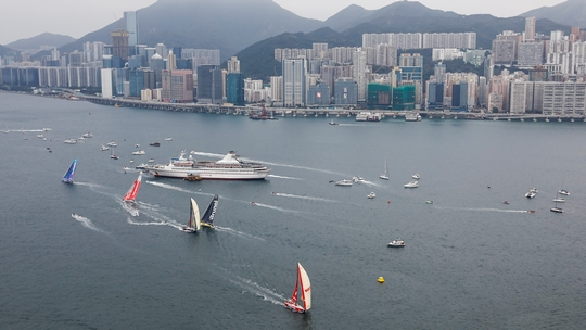 Hong Kong Stopover. HGC In-Port Race Hong Kong. 27 January, 2018. (Photo © Pedro Martinez/Volvo Ocean Race )
