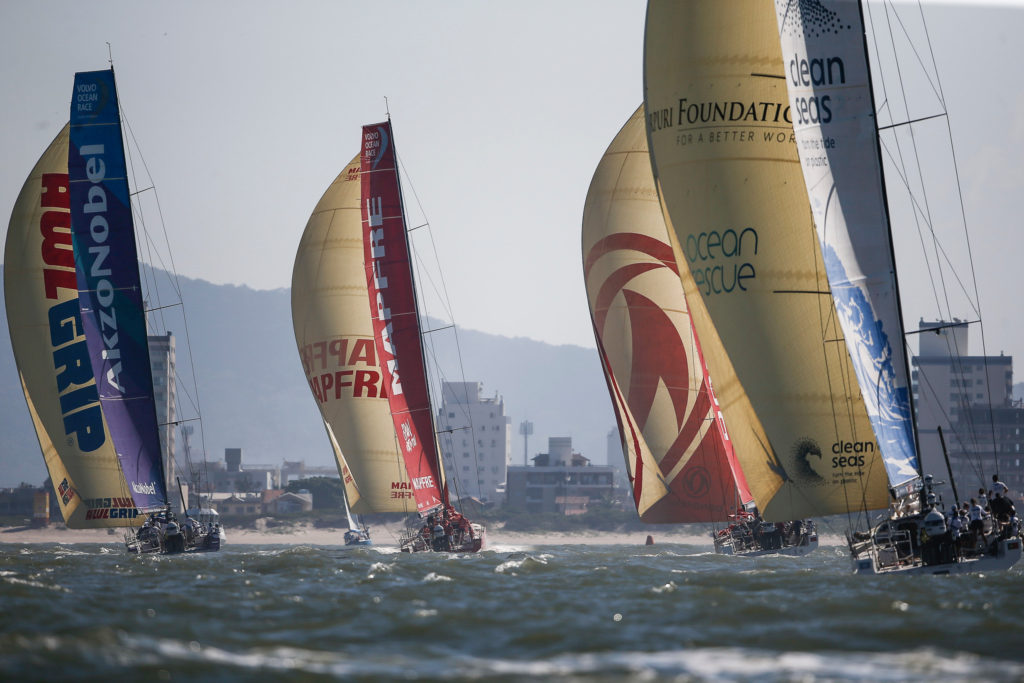 Itajai stopover.In-port Race. 20 April (Photo ©  Pedro Martinez/Volvo Ocean Race)