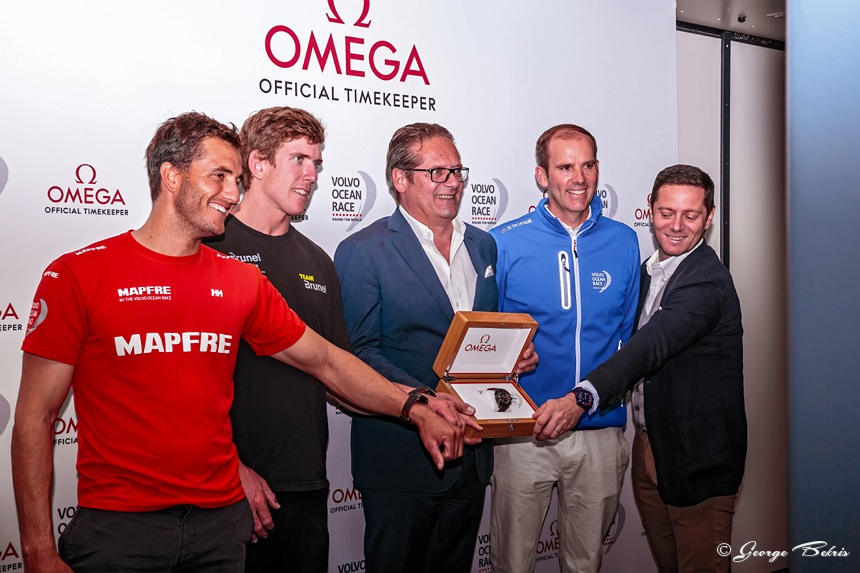 "Official unveiling of the OMEGA Seamaster Planet Ocean Deep Black ""Volvo Ocean Race"" Limited Edition timepiece (Photo © George Bekris)"