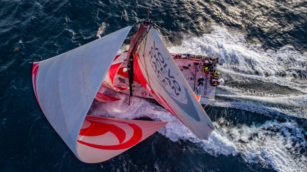 Leg 8 from Itajai to Newport, day 12 on board Dongfeng. 03 May, 2018. (Photo © Jeremie Lecaudey/Volvo Ocean Race)