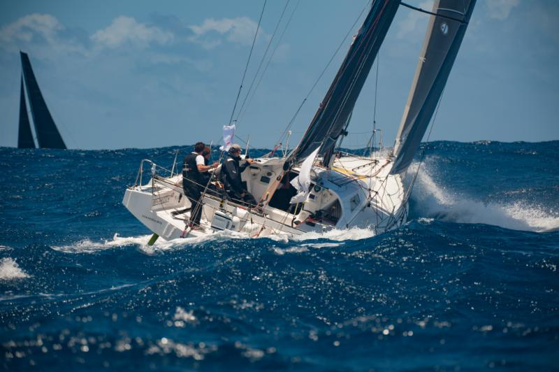The most westerly team in the Antigua Bermuda Race is Arnt Bruhn's German Class40 Iskareen © Ted Martin