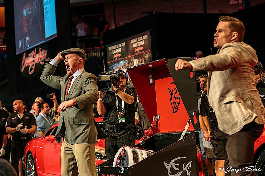The Dodge Brothers on the auction block at Barrett-Jackson Northeast 2018 (Photo © George Bekris )