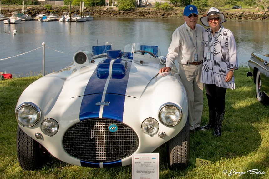 Larry and Jan Pfitzenmaier brought their Cunningham C-4R ( Photo © George Bekris )