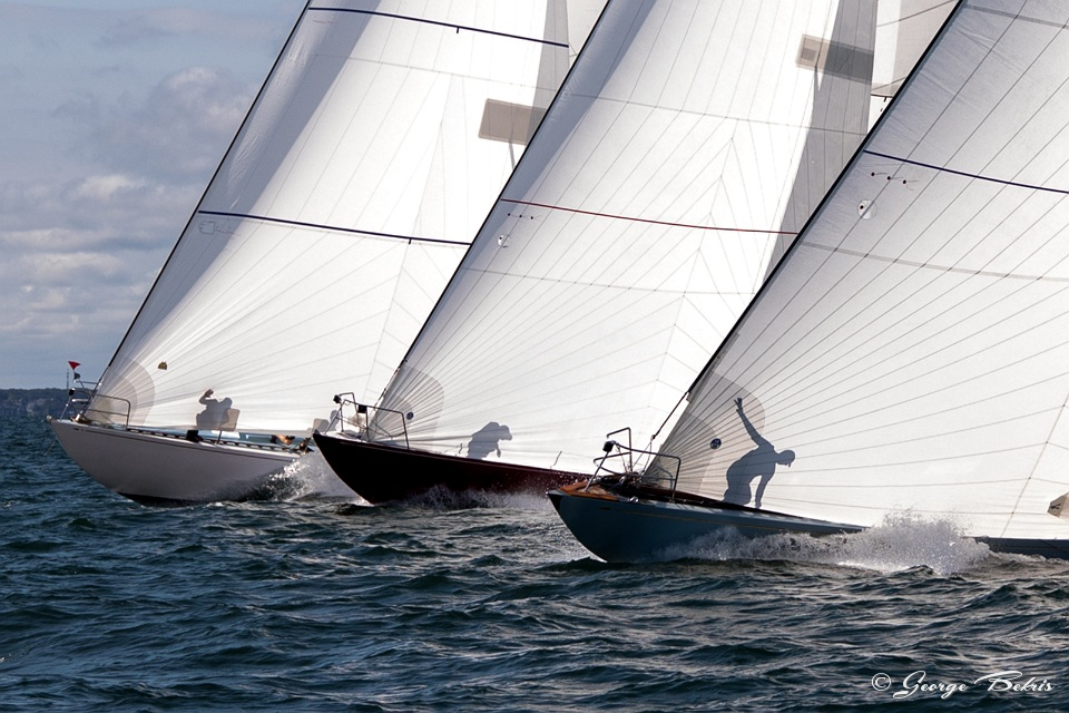 12 Metre fleet at start of racing ( Photo © George Bekris )