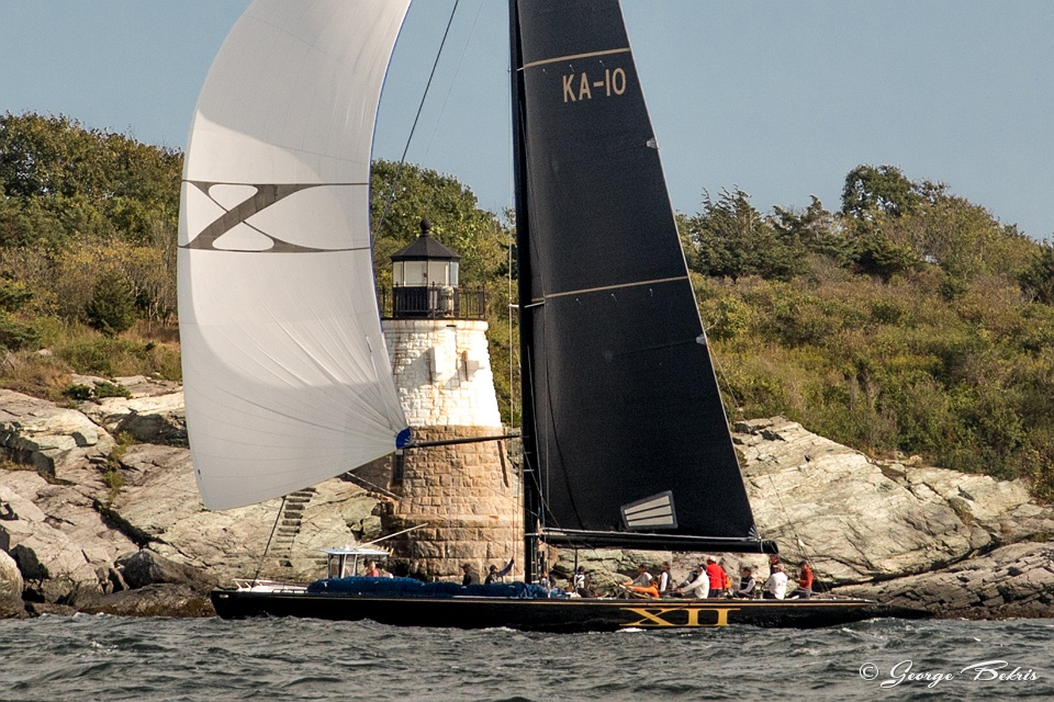 Challenge XII passing Castle Hill Lighthouse ( Photo © George Bekris )